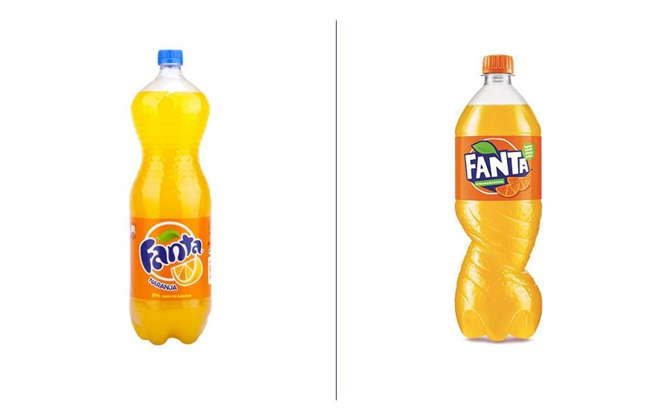 Новая упаковка Fanta: было и стало