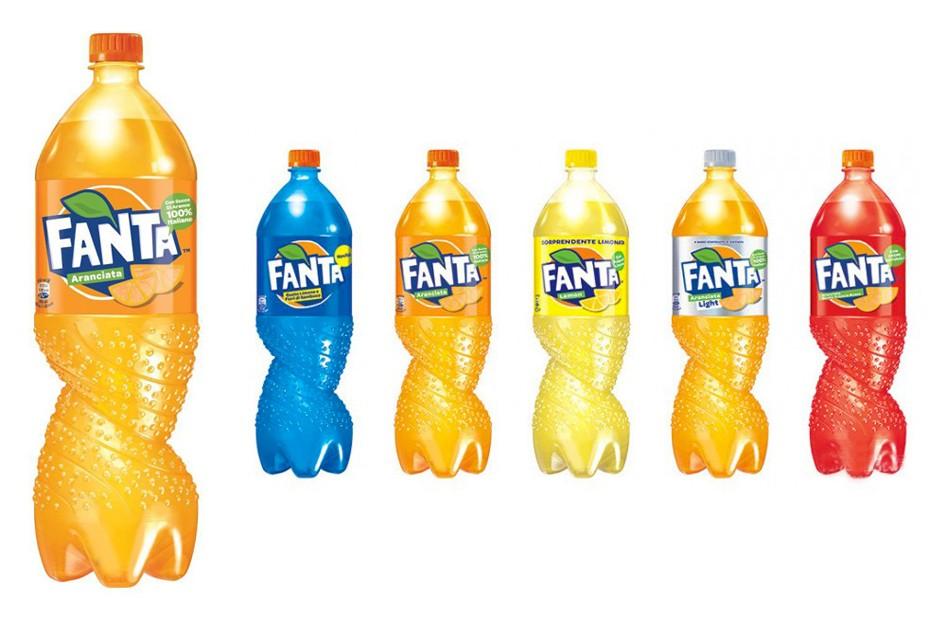 Новый дизайн упаковки Fanta: закрученная бутылка