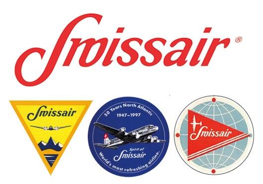 Стандартный логотип swissair в 40-х годах