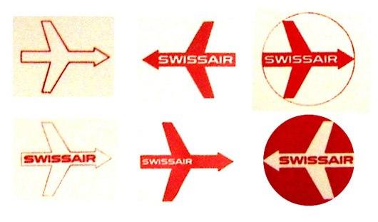 Логотип swissair  в 50-х годах