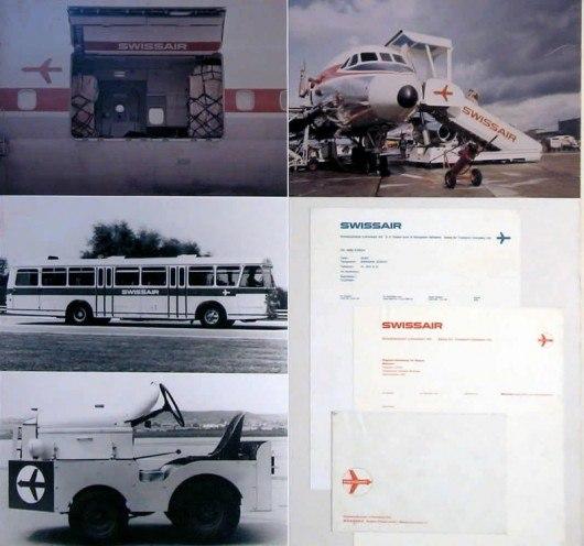 История логотипа Swissair