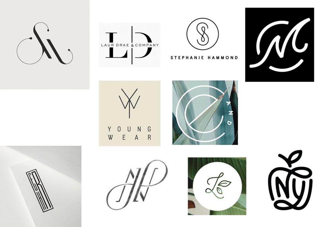 Логотип из комбинации букв