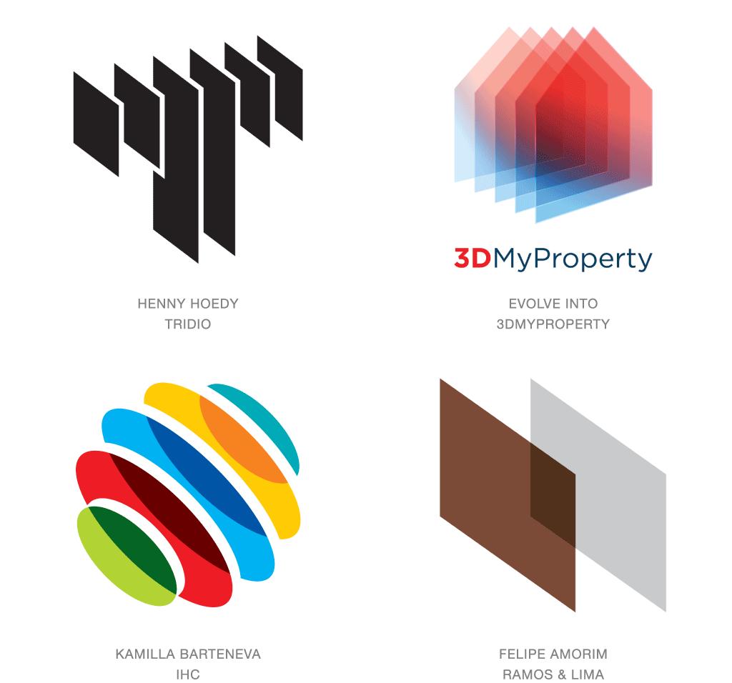 Многослойные 3D логотипы