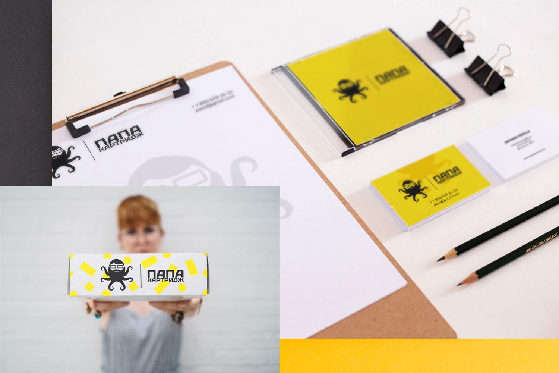 визитка и бланк типографии