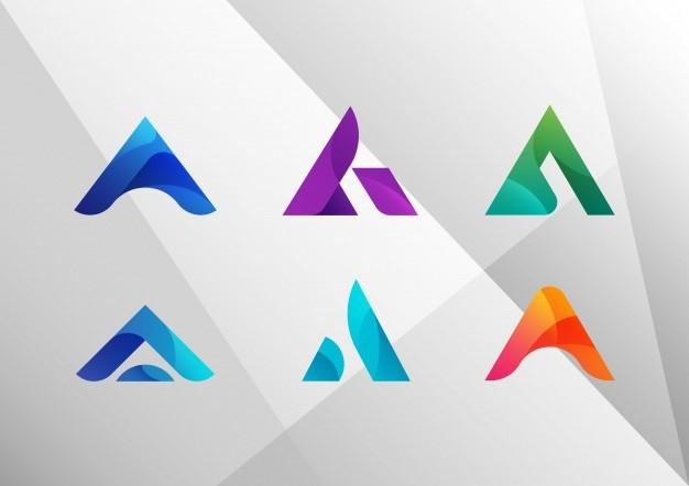 Логотипы с градиентом из одного цвета